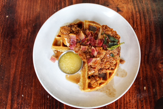 Chicken and Waffles - Station 22 Cafe