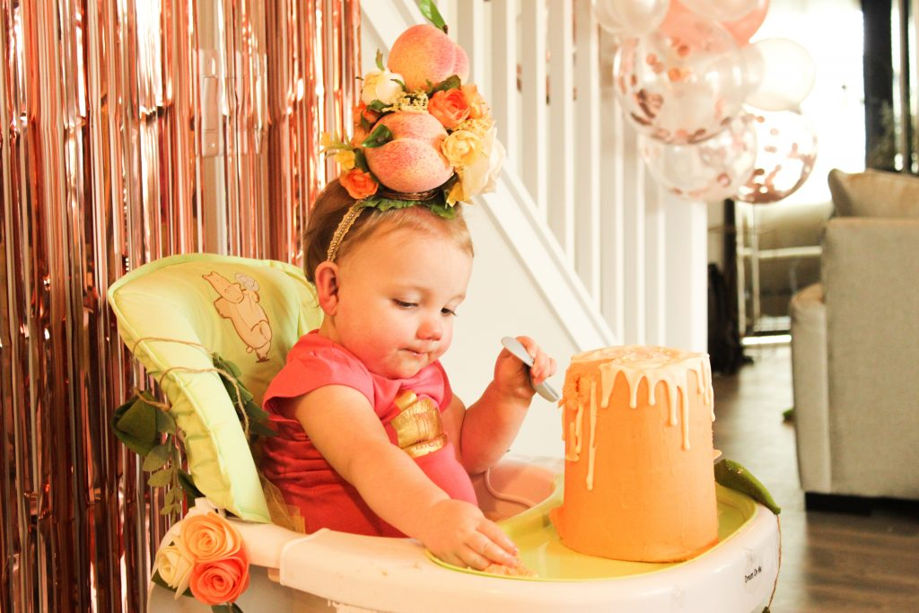peach first birthday party